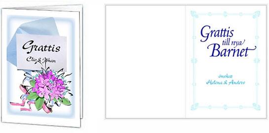 gratulationer nyfödd text Grattiskort   utforma och ladda hem gratis grattiskort här! gratulationer nyfödd text