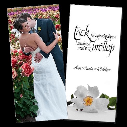 d1dd0a649c57 Tackkort bröllop - skapa och beställ tackkort efter bröllopet!