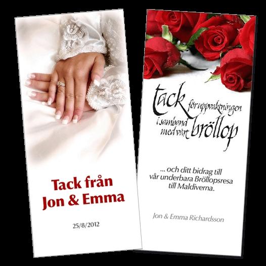 tackkort bröllop text exempel