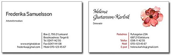 Visitkort - beställ dina visitkort här!